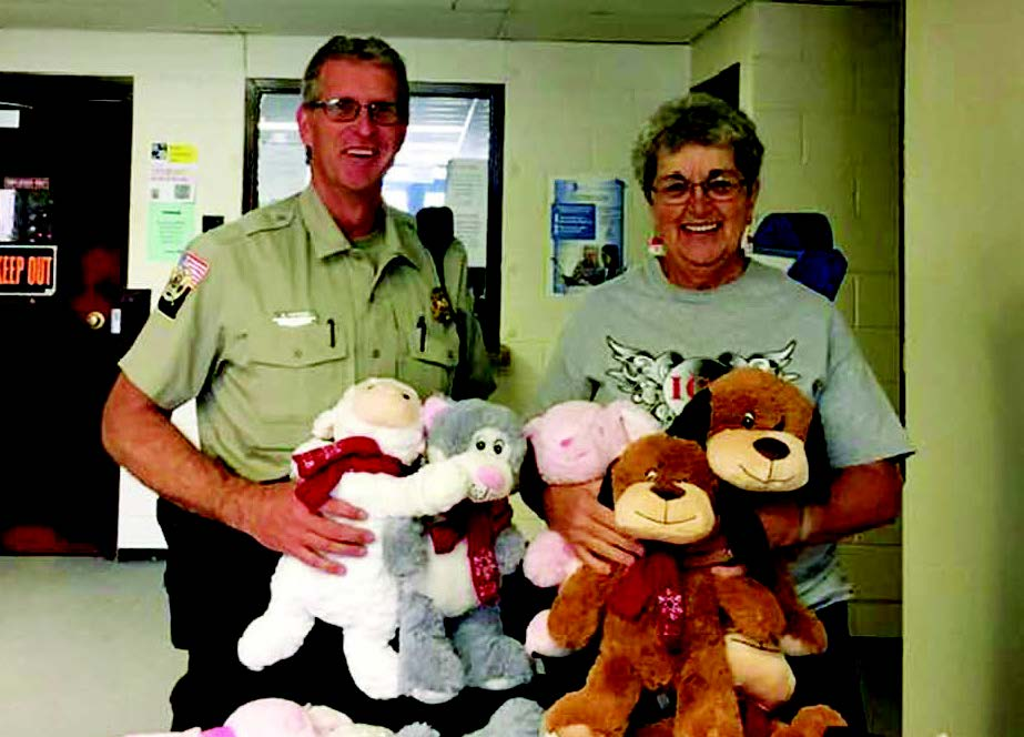 The Inner City Slickers received an abundance of stuffed animals from Petsmart, and in the spirit of giving shared them with the White Pine County Sheriff's Office.  Beverly Cornutt, delivered them to Sheriff Scott Henriod.  The stuffed animals will be dispersed to the officers who utilize them when they get a child related call.