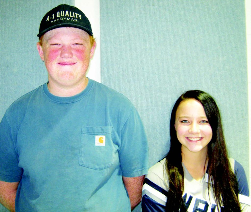 From left,  Kyson  Coombs and Mickell  Weston        Submitted photo