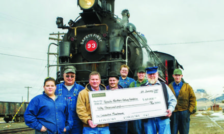 Mine makes donation to railway
