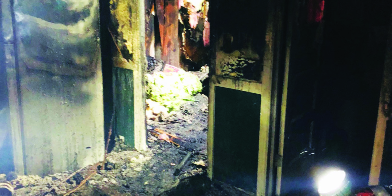 McGill home catches fire