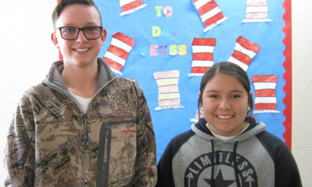 Petersen and Thompson February Elks Students of the Month