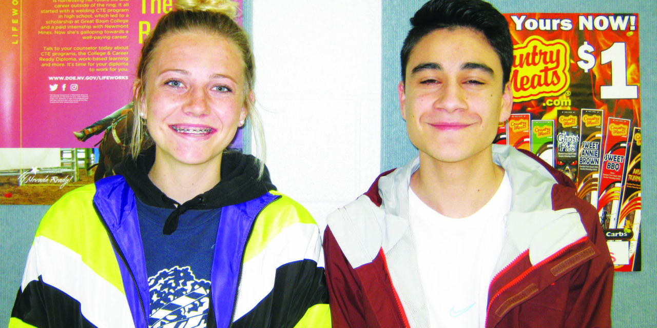 Gimenez and Prengel  April Students of the Month