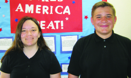 Manning and Dishong March  Jr. Elks Students of the Month