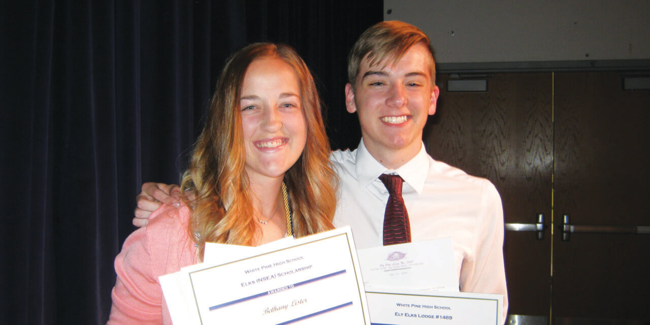 Connell and Lister Ely Elks Most Valuable Students