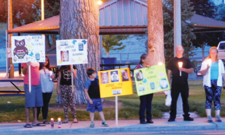 Community again gathers in support of fallen child