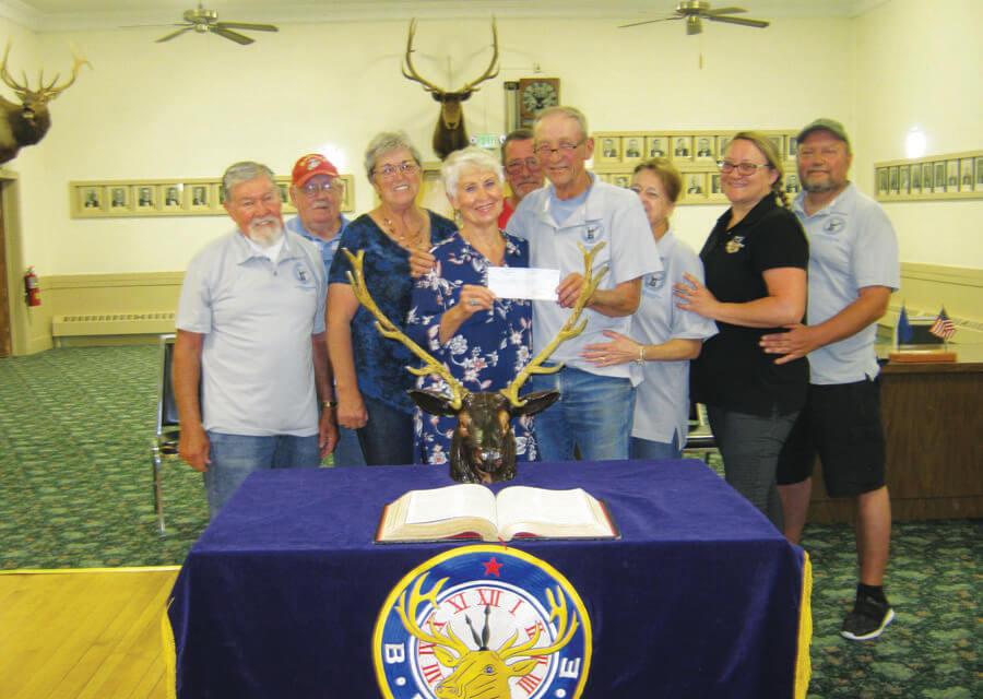Elks donate to ICS program