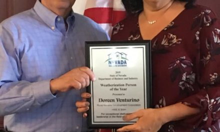Doreen Venturino honored as 2019 State of Nevada Weatherization Person of the Year