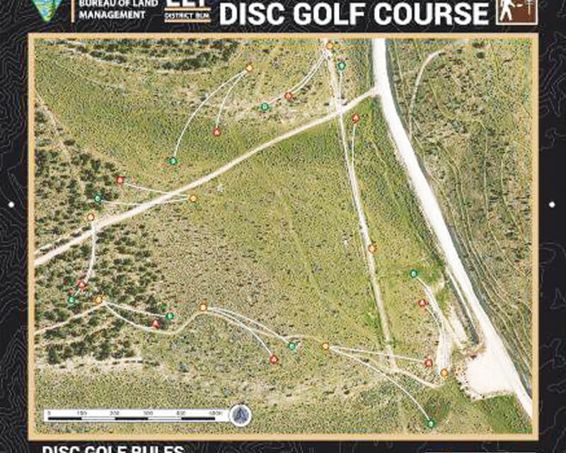 Play a round of Disc Golf  at Ward Mountain Rec. area