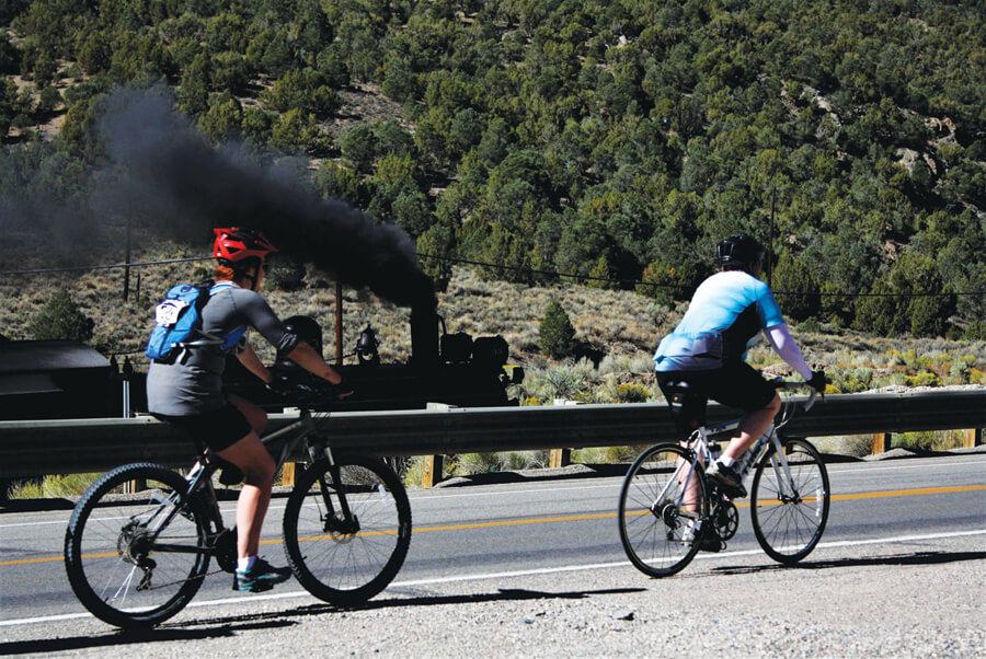 Event pits trains vs. bikes