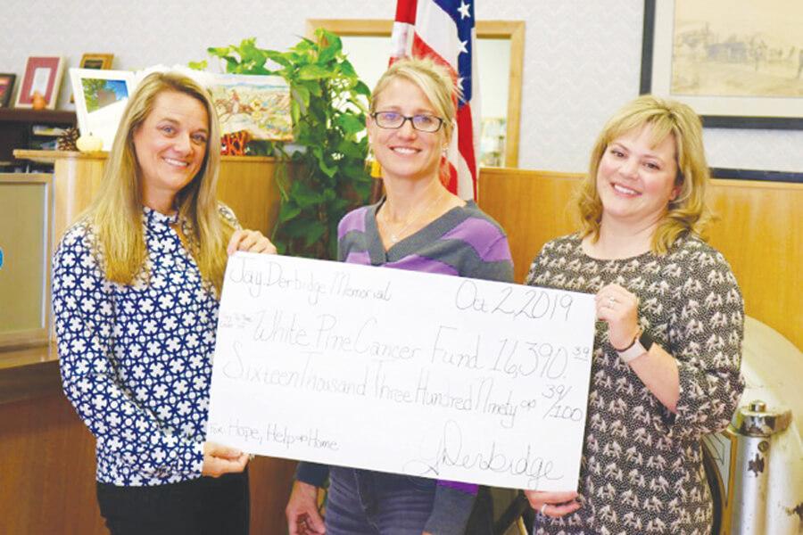 White Pine Cancer Fund  receives donation