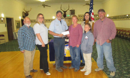 Elks donation to  White Pine Little League