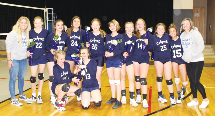 Middle School volleyball team wins championship game