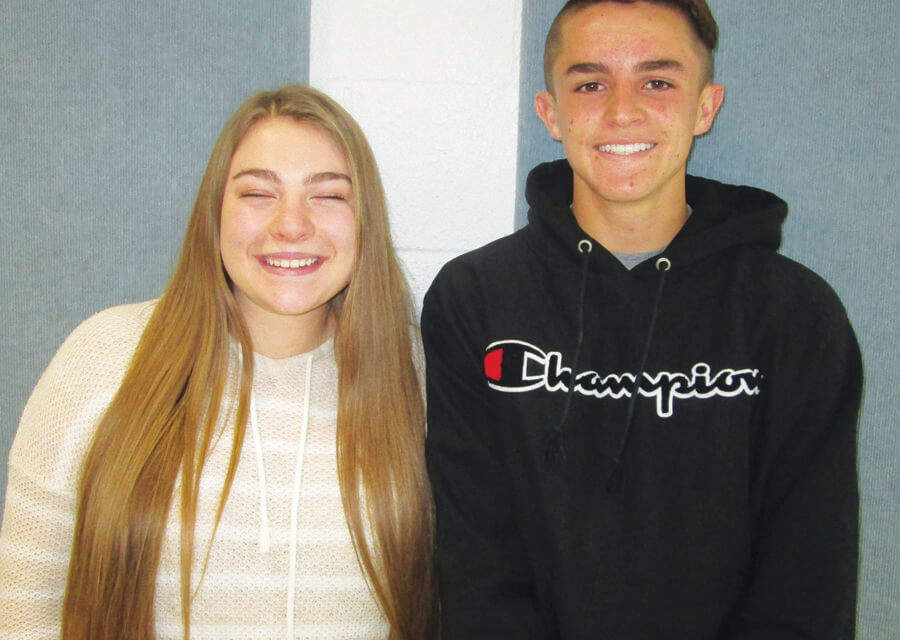 Brewer and Moore  September Elks students