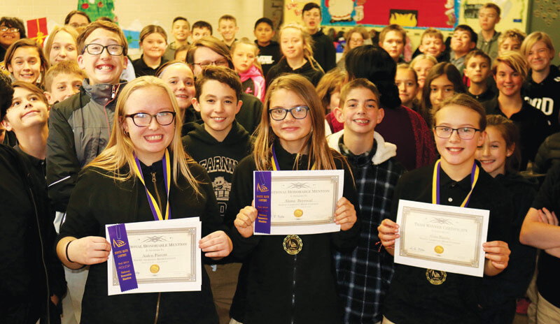 Learning Bridge middle school students receive national recognition for math contest