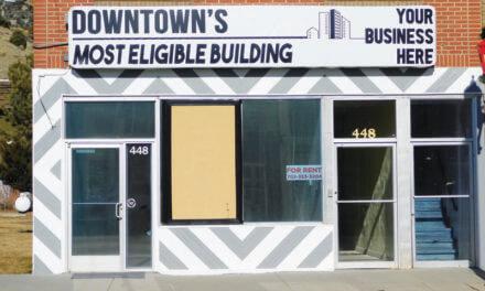 Remodeled building vandalized
