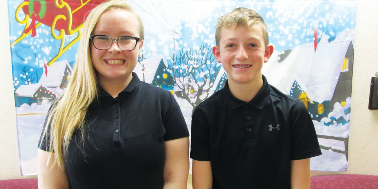 Gubler and Parent December Students of the Month