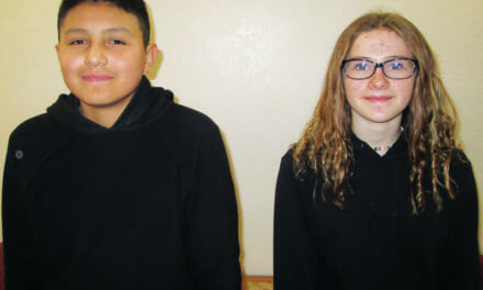 Rosales and Fuller January Students of the Month