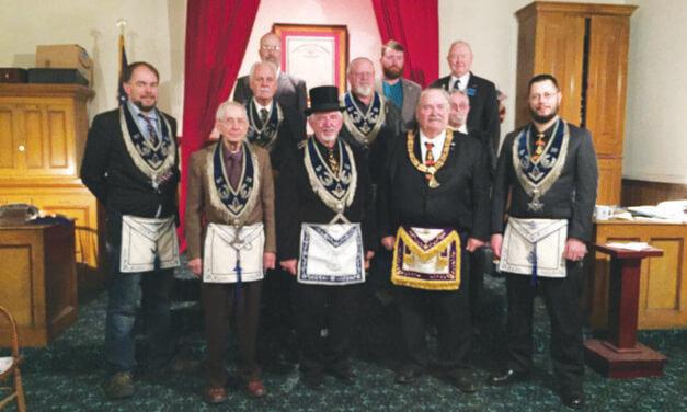 Eureka Masons installation of officers